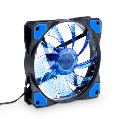 Fan 120mm MOLEX / 3-pin 15 LED blue AW-12C-BL