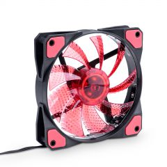 Fan 120mm MOLEX / 3-pin 15 LED rote AW-12C-BR